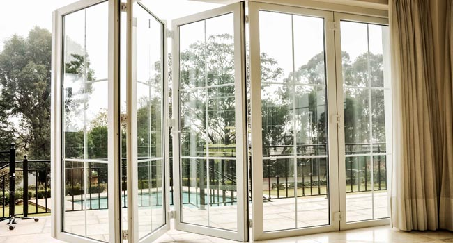 Upvc folding doors energy efficient upvc windows for Upvc folding doors